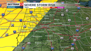Severe weather outlook from NBC affiliate WXIN.